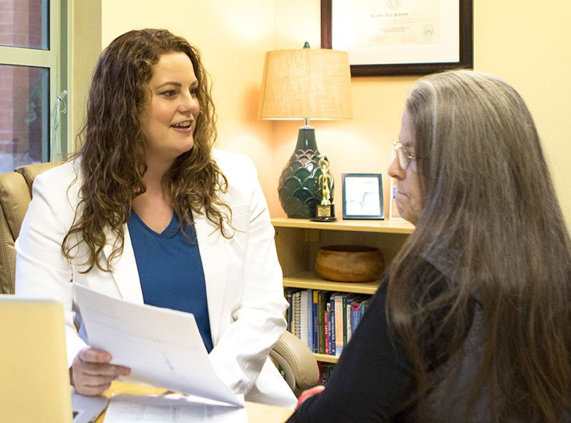 Dr. Heather Paulson with a Patient