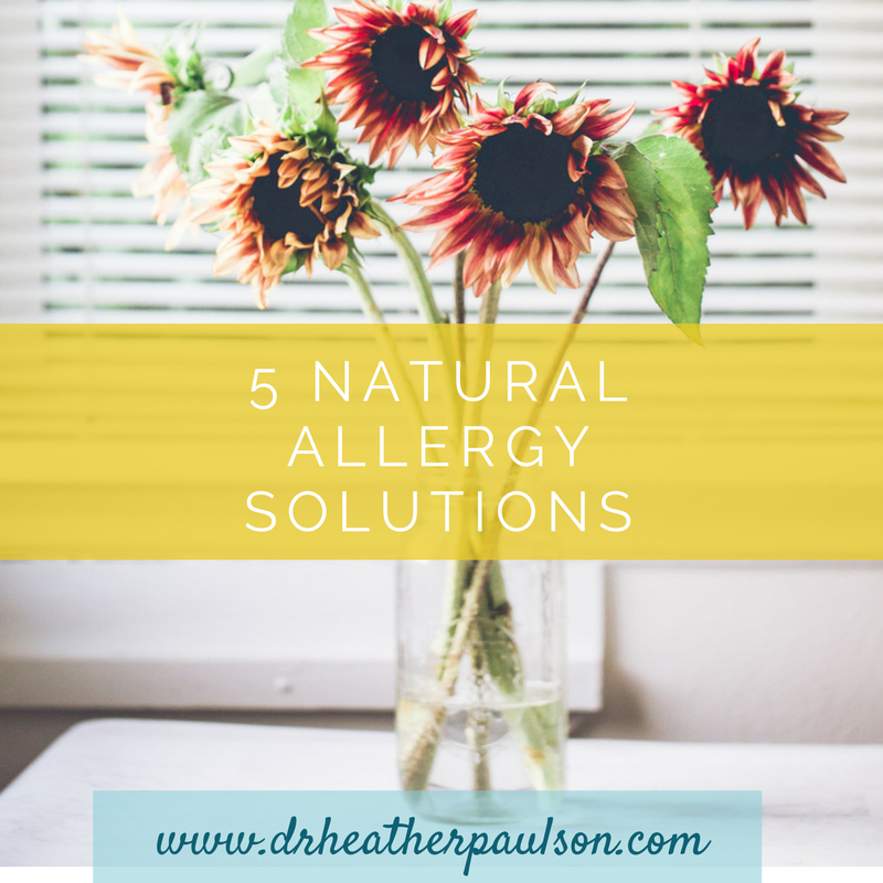 The top 5 natural allergy solutions