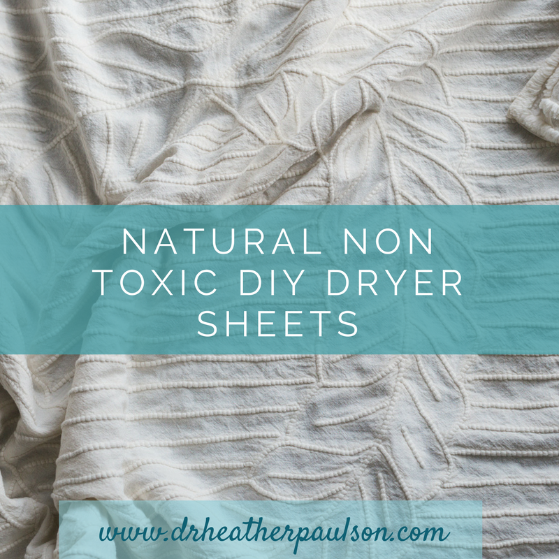 Natural Non Toxic DIY Dryer Sheets