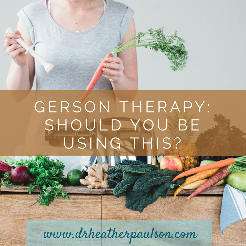 Is Gerson Threapy Right For You?
